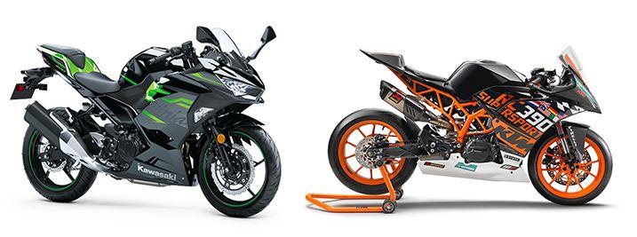 ktm-rc390-r-vs-kawasaki-ninja-400